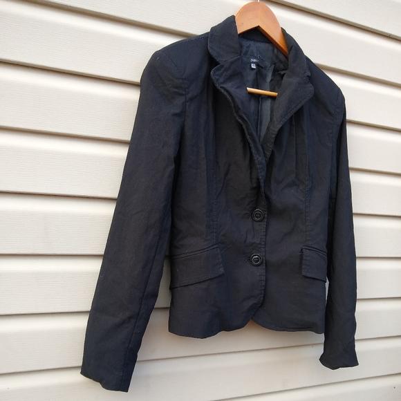 Zara black stretch blazer